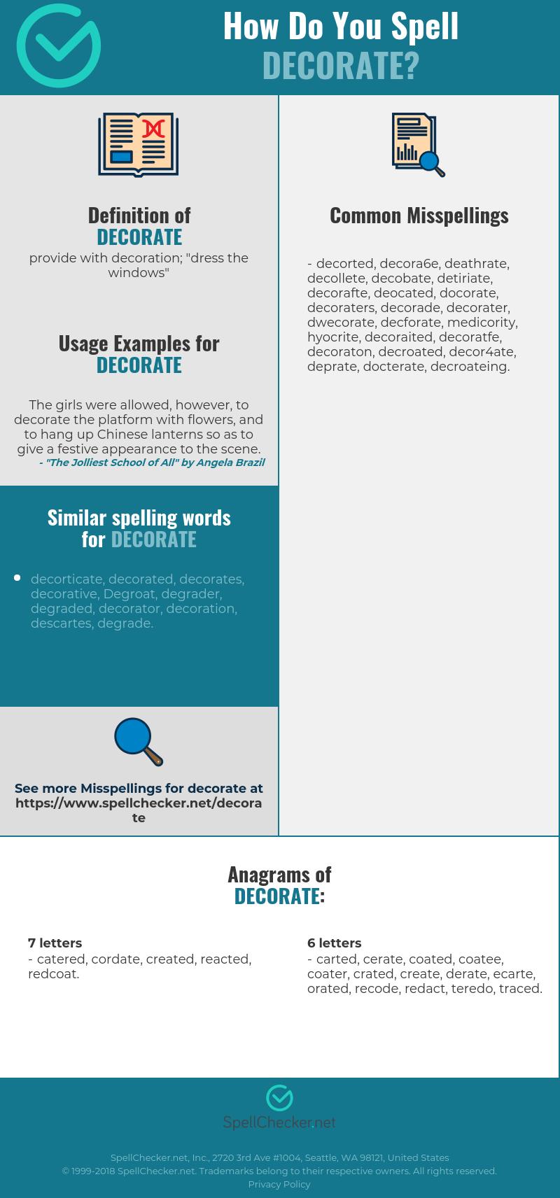 Correct Spelling For Decorate Infographic Spellchecker Net