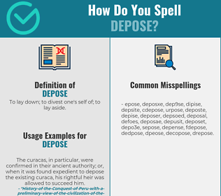 Correct spelling for depose