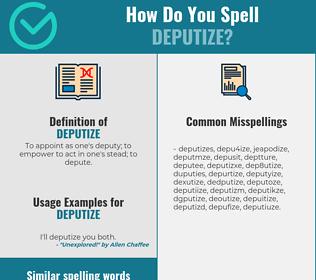 Correct spelling for deputize