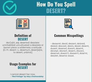 Correct spelling for desert