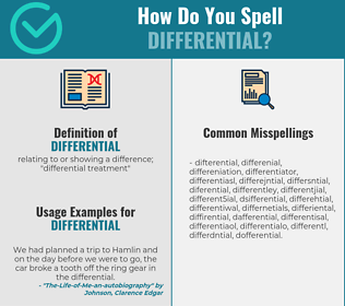 Correct spelling for differential