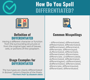 Correct spelling for differentiated