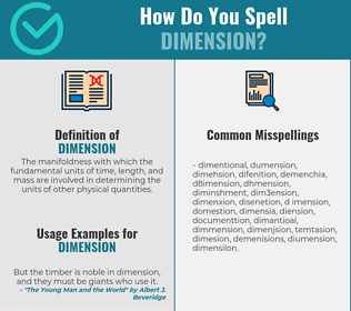 Correct spelling for dimension