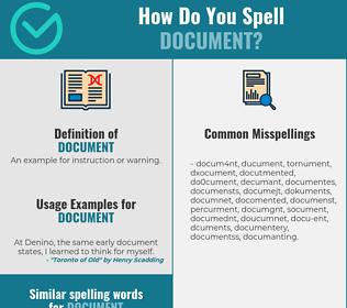 Correct spelling for document
