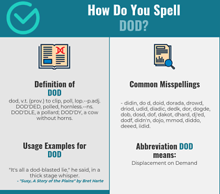 Correct spelling for dod