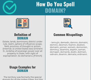 Correct spelling for domain