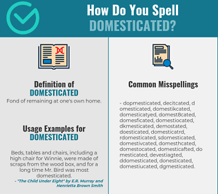 Correct spelling for domesticated