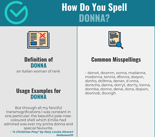 Correct spelling for donna
