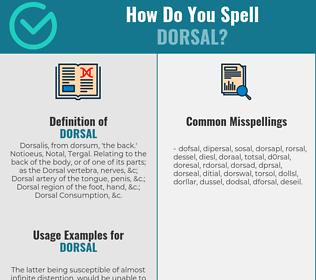 Correct spelling for dorsal