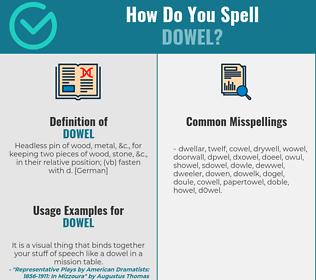 Correct spelling for dowel