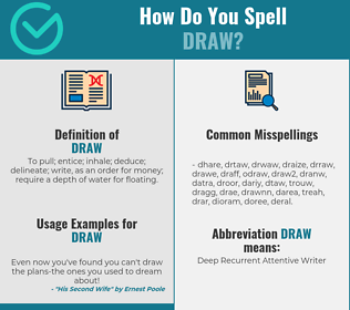 Correct spelling for draw