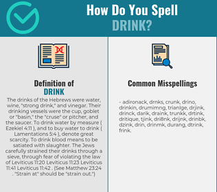 Correct spelling for drink