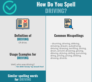 Correct spelling for driving