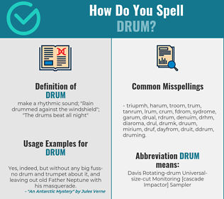Correct spelling for drum