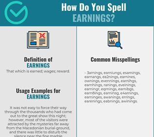 Correct spelling for earnings