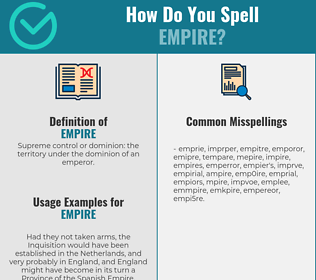 Correct spelling for empire