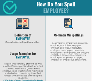 Correct spelling for employee