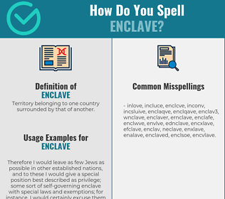 Correct spelling for enclave