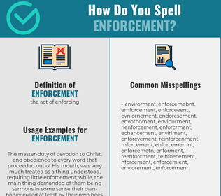 Correct spelling for enforcement