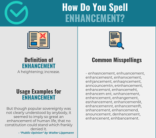 Correct spelling for enhancement