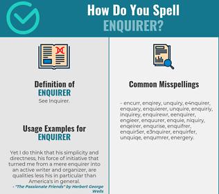 Correct spelling for enquirer