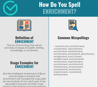 Correct spelling for enrichment