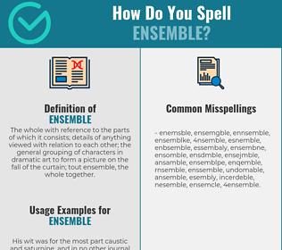 Correct spelling for ensemble