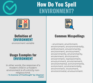 Correct spelling for environment