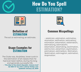 Correct spelling for estimation