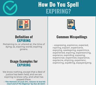 Correct spelling for expiring
