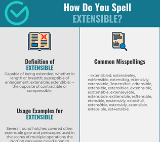 Correct spelling for extensible