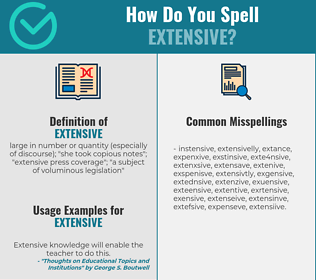 Correct spelling for extensive