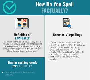 Correct spelling for factually