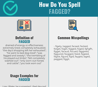 Correct spelling for fagged