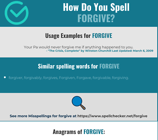 Correct spelling for forgive