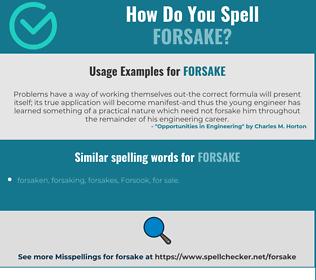 Correct spelling for forsake