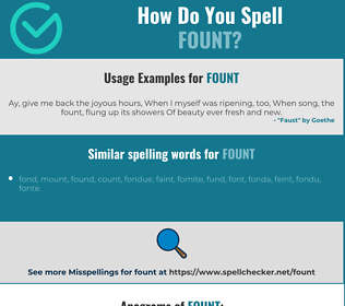 Correct spelling for fount