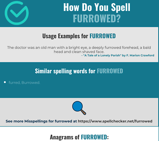 Correct spelling for furrowed