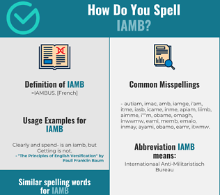 Correct spelling for iamb