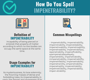 Correct spelling for impenetrability