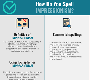 Correct spelling for impressionism