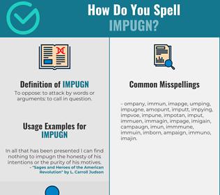 Correct spelling for impugn