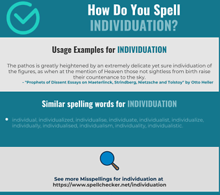 Correct spelling for individuation