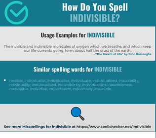 Correct spelling for indivisible
