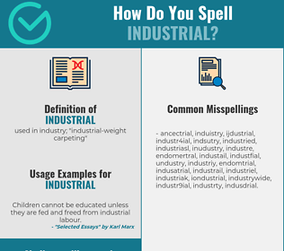 Correct spelling for industrial