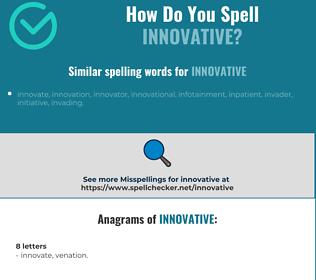 Correct spelling for innovative