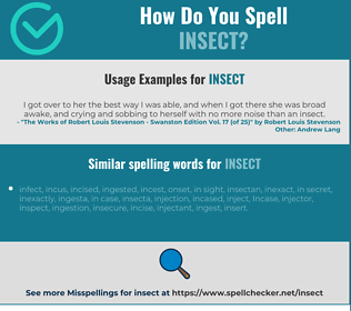 Correct spelling for insect