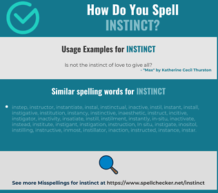 Correct spelling for instinct