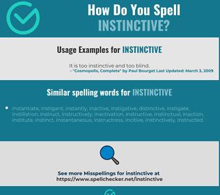 Correct spelling for instinctive