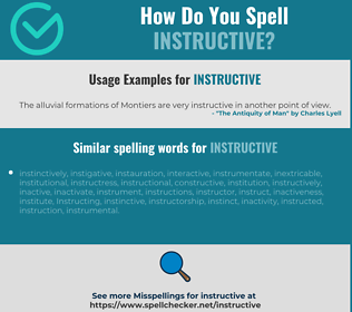 Correct spelling for instructive